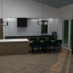 Keuken ontwerp (uitbreiding),  Krimpen aan den IJssel